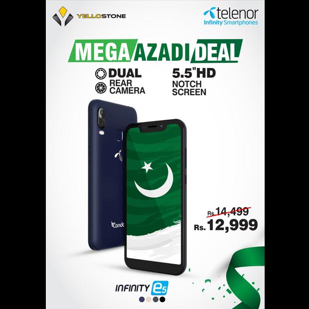 Telenor Infinity Smartphones and Yellostone announce Mega Azadi Deal