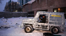Russian Car Enthusiast Builds Functional Mercedes G-Class SUV Out of Ice Blocks