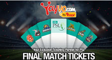 PSL 2018: Grab PSL 3 Final Match Tickets From 15th March Online Only On Yayvo.com