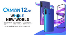 TECNO Camon 12 Air – Dot-in-Display smartphone with Huge Memory for Budget conscious users