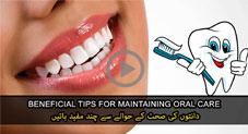 دانتوں کی صحت کے حوالے سے چند مفید باتیں