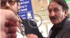 جدہ ائیرپورٹ٬ لائن توڑنے پر افتخار چوہدری اور ان کے بیٹے کو شرمندگی کا سامنا٬ ویڈیو وائرل