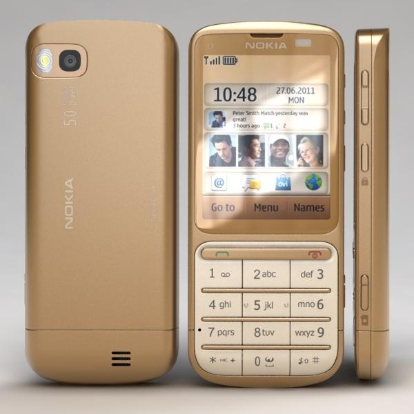 Nokia c3-01 золотой цена