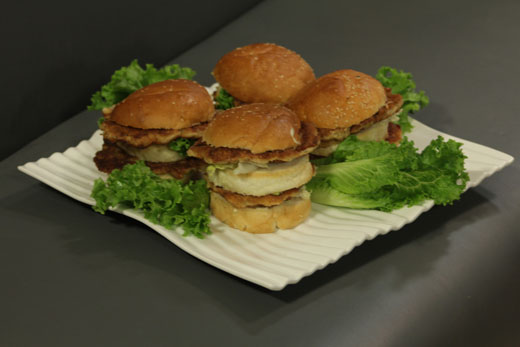 Double Decker Fish Burger Recipe by Gulzar Hussain