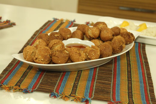 Chinese Donuts With Honey Recipe by Shireen Anwar
