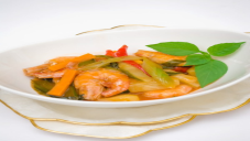 Sweet and Sour Prawns with Vegetables