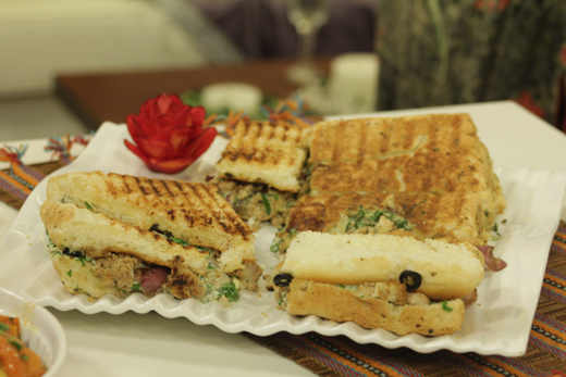 Grilled chicken panini sandwich recipe by shireen anwar recipes grilled chicken panini sandwich recipe by shireen anwar forumfinder Images