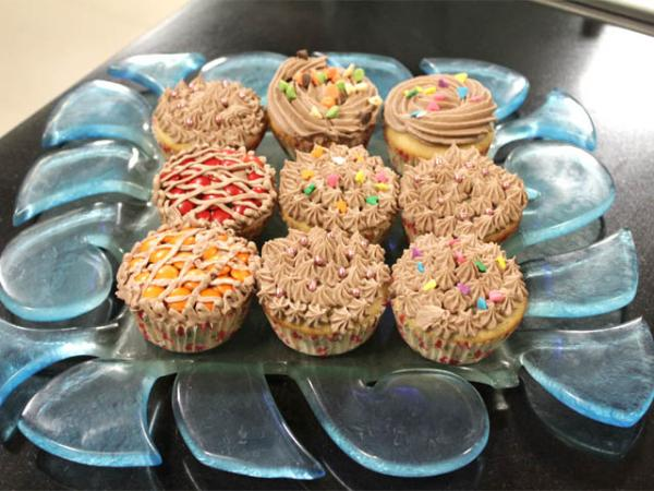 Chocolate Chip Cup Cakes With Fudge Frosting Recipe By Shireen Anwar