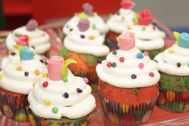 Rainbow Cup Cakes Recipe By Shireen Anwar
