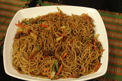 Sweet And Sour Beef Chowmein Recipe by Zubaida Tariq