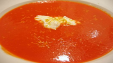Red Capsicum Soup With Lemon