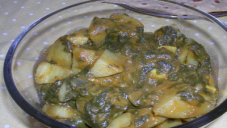 Potato and Spinach Bhujia