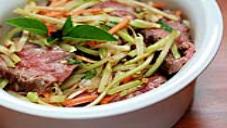 Indian rice-stick salad