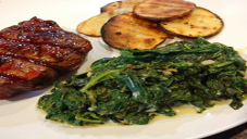 Healthy Creamed Spinach